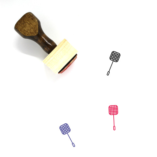 Fly Swatter Wooden Rubber Stamp No. 1