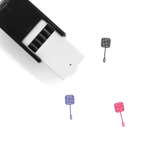 Fly Swatter Self-Inking Rubber Stamp No. 1
