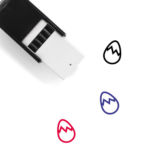 Cracked Egg Self-Inking Rubber Stamp No. 11