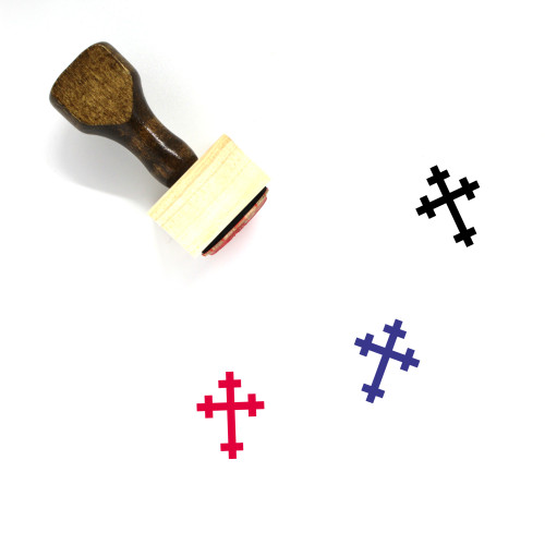 Cross Wooden Rubber Stamp No. 27