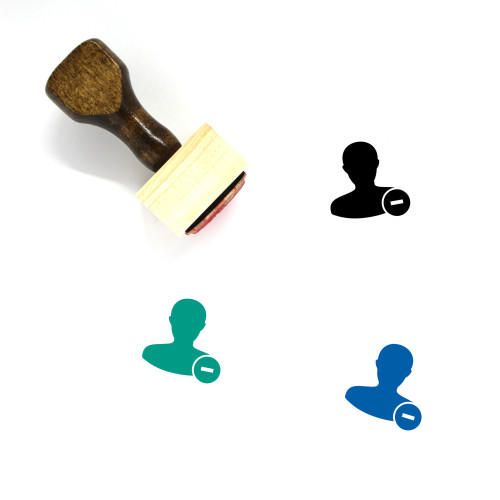Remove User Wooden Rubber Stamp No. 11