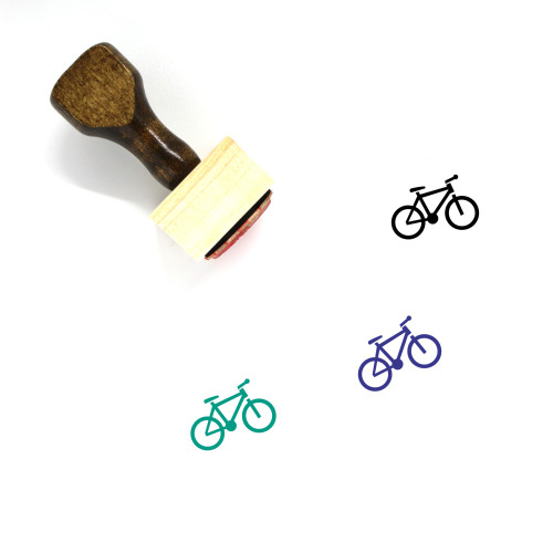 Bicycle Wooden Rubber Stamp No. 20