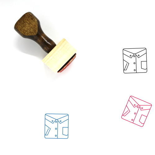 Shirt Wooden Rubber Stamp No. 33