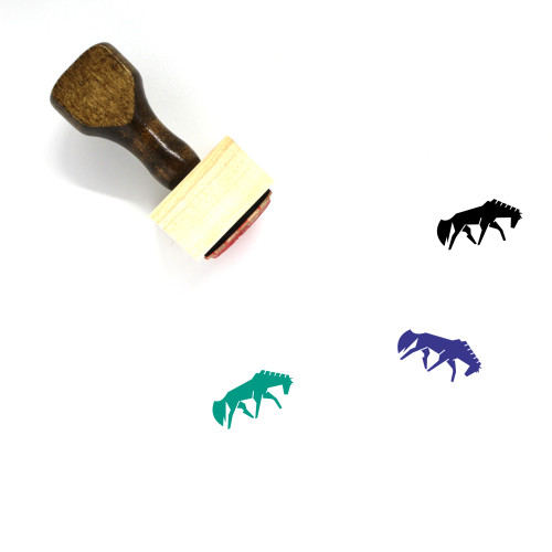 Horse Wooden Rubber Stamp No. 49