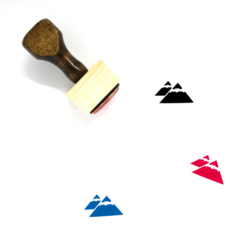 Mountains Wooden Rubber Stamp No. 29