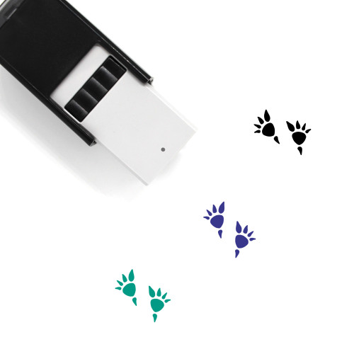 Stegosaurus Footprints Self-Inking Rubber Stamp No. 1