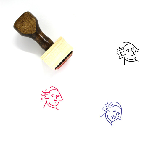 George Washington Wooden Rubber Stamp No. 1