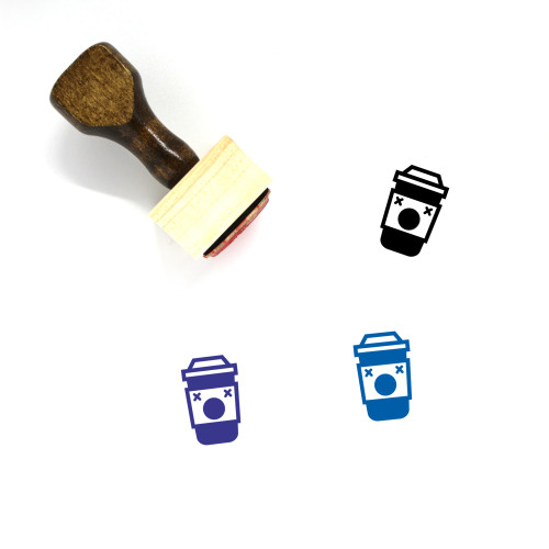 Dead Takeaway Coffee Cup Wooden Rubber Stamp No. 2