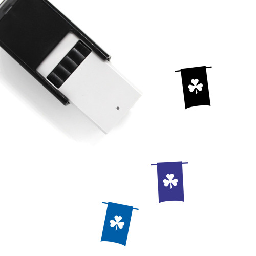Clover Banner Self-Inking Rubber Stamp No. 25