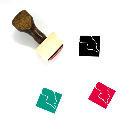Heavy Smog Wooden Rubber Stamp No. 1