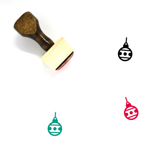 Christmas Ornament Wooden Rubber Stamp No. 32