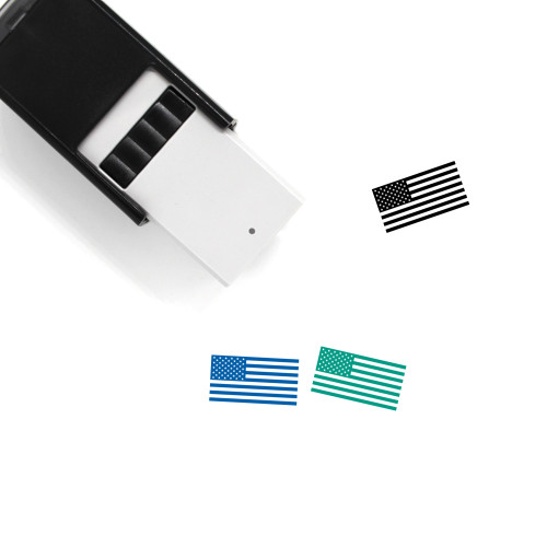American Flag Self-Inking Rubber Stamp No. 22