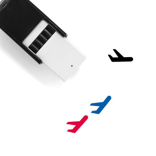 Airplane Self-Inking Rubber Stamp No. 89