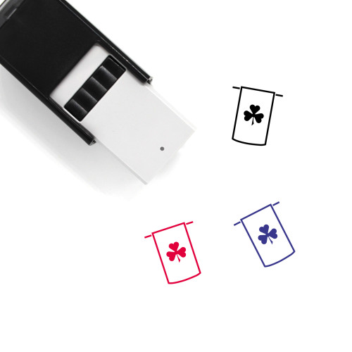 Clover Banner Self-Inking Rubber Stamp No. 26