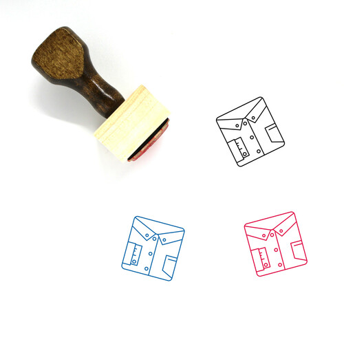 Shirt Wooden Rubber Stamp No. 34