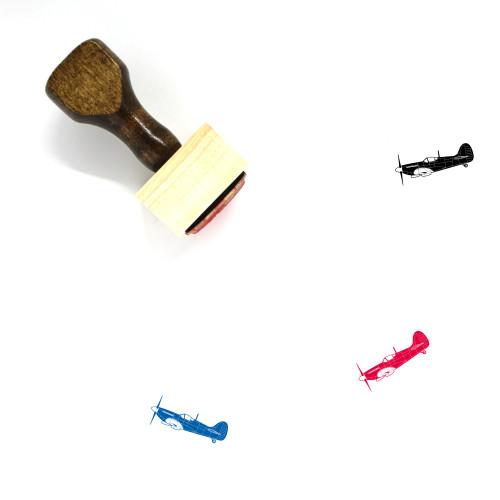 Airplane Wooden Rubber Stamp No. 93