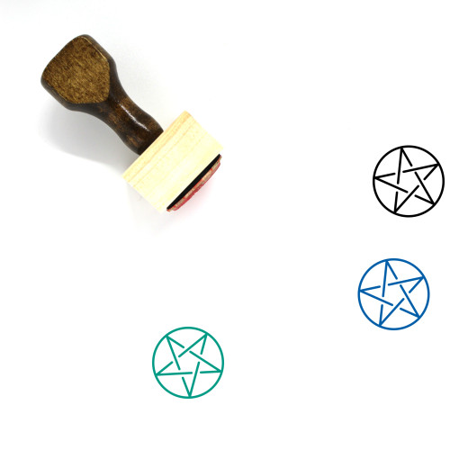Pentagram Wooden Rubber Stamp No. 2