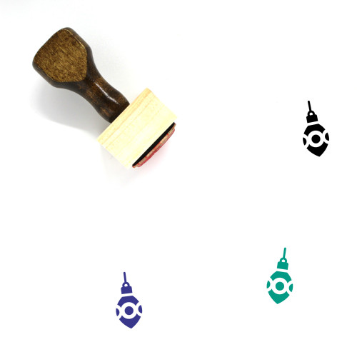 Christmas Ornament Wooden Rubber Stamp No. 34