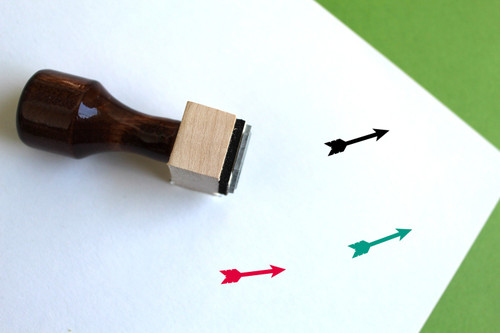 Arrow Wooden Rubber Stamp No. 20