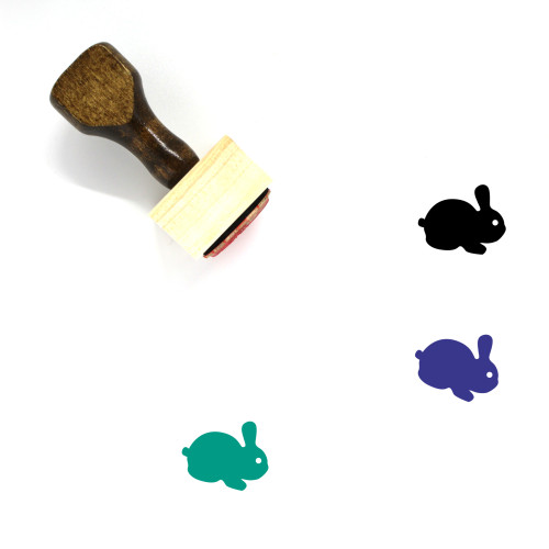 Rabbit Wooden Rubber Stamp No. 48