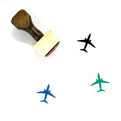 Airplane Wooden Rubber Stamp No. 94