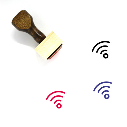 Wifi Wooden Rubber Stamp No. 30