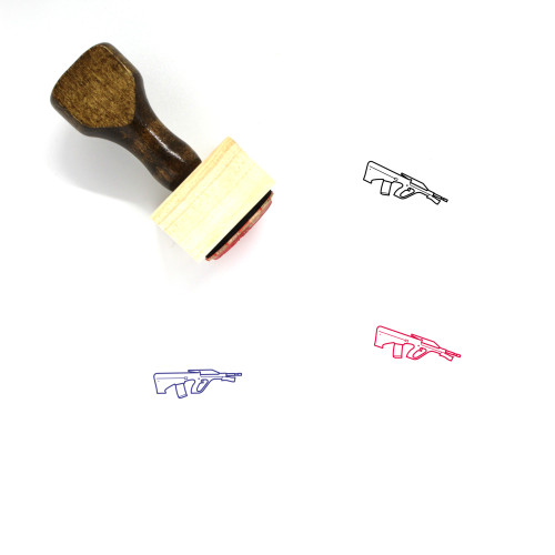 Rifle Wooden Rubber Stamp No. 3