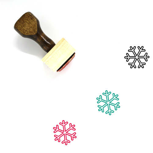 Snowflake Wooden Rubber Stamp No. 50