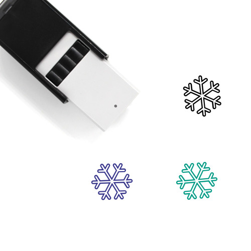 Snowflake Self-Inking Rubber Stamp No. 50