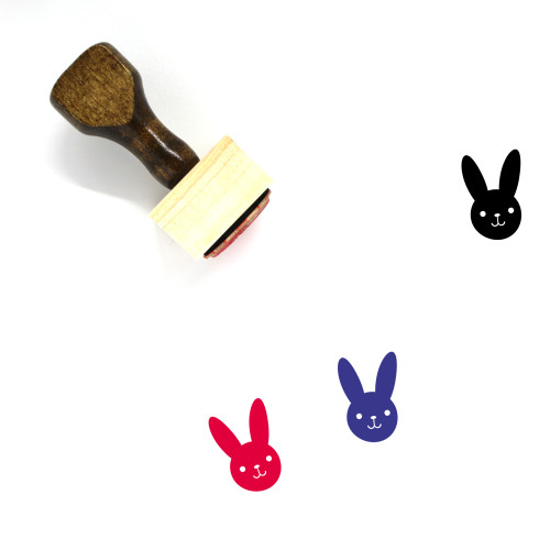 Bunny Wooden Rubber Stamp No. 58
