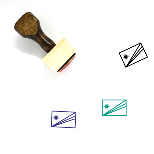 Marshall Islands Flag Wooden Rubber Stamp No. 3