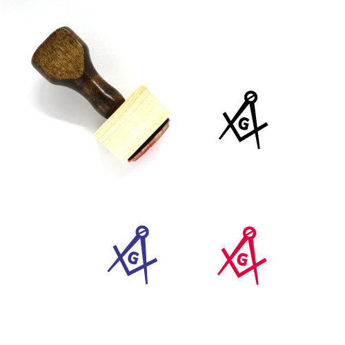 Freemason Wooden Rubber Stamp No. 1
