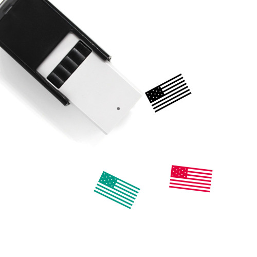 American Flag Self-Inking Rubber Stamp No. 24