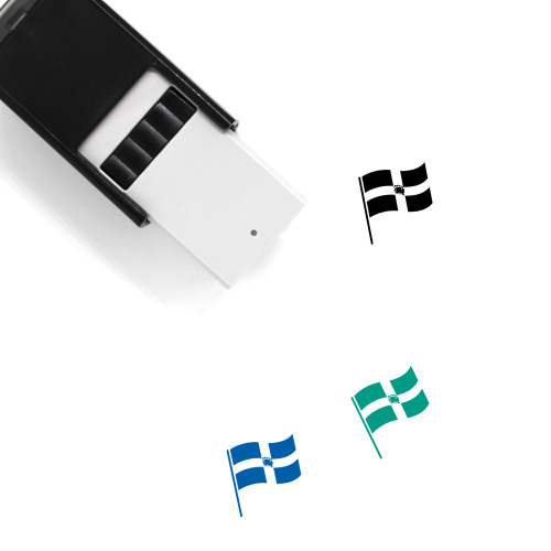 Flag Of Dominican Republic Self-Inking Rubber Stamp No. 1