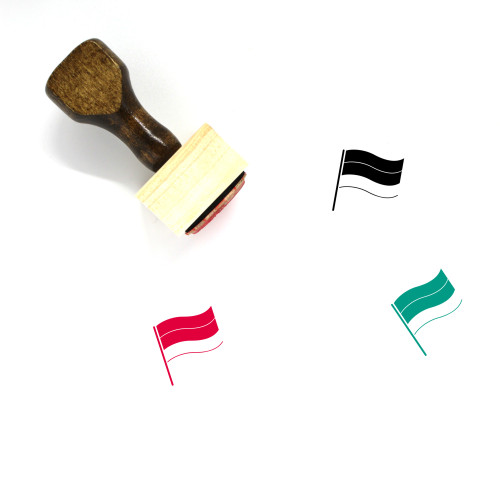 Flag Of Armenia Wooden Rubber Stamp No. 1