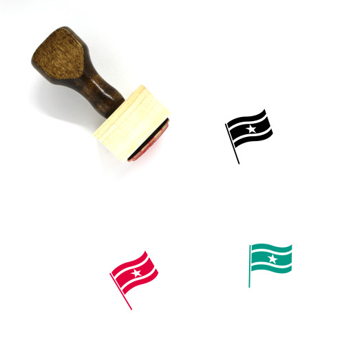 Flag Of Suriname Wooden Rubber Stamp No. 1