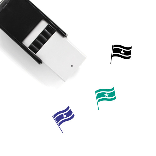 Flag Of Suriname Self-Inking Rubber Stamp No. 1