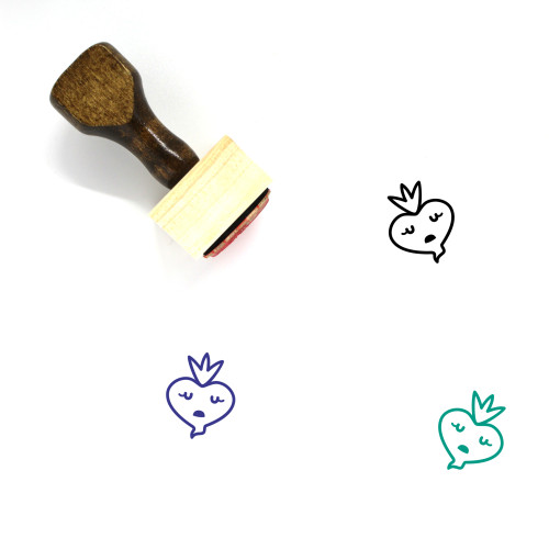 Dull Wooden Rubber Stamp No. 7