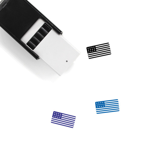American Flag Self-Inking Rubber Stamp No. 25