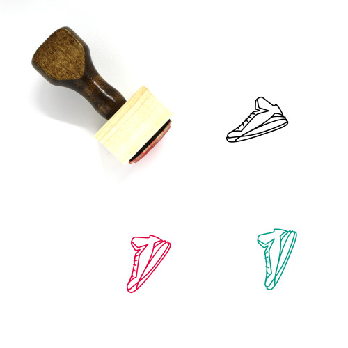 Sneakers Wooden Rubber Stamp No. 1