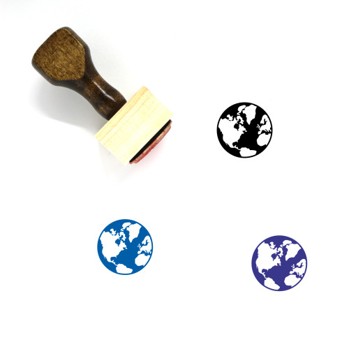 Earth Wooden Rubber Stamp No. 241