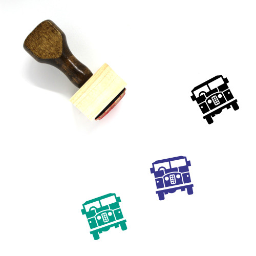 Land Rover Wooden Rubber Stamp No. 1