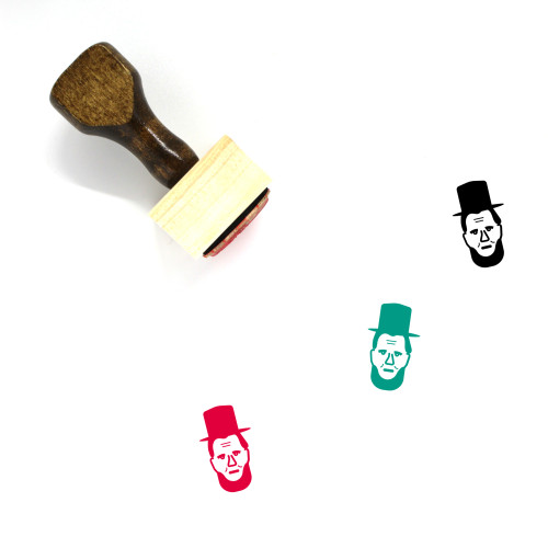 Abraham Lincoln Wooden Rubber Stamp No. 3