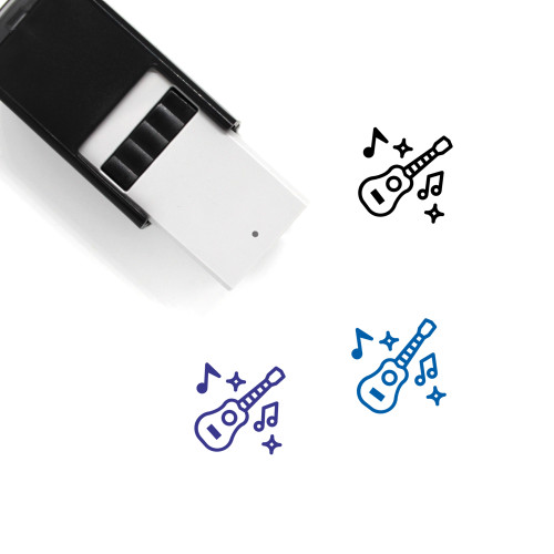 Ukulele Self-Inking Rubber Stamp No. 1