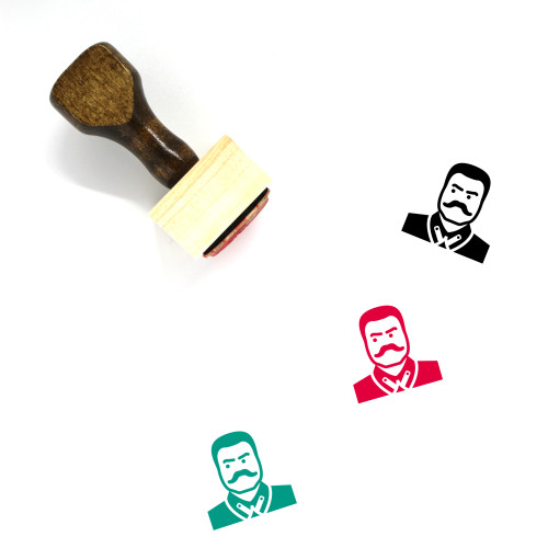 Joseph Stalin Wooden Rubber Stamp No. 1