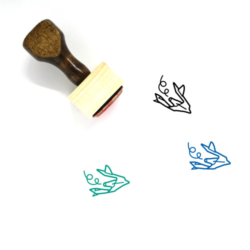 Space Plane Wooden Rubber Stamp No. 1