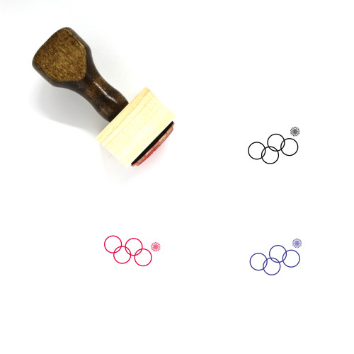 Sochi Olympics Wooden Rubber Stamp No. 1