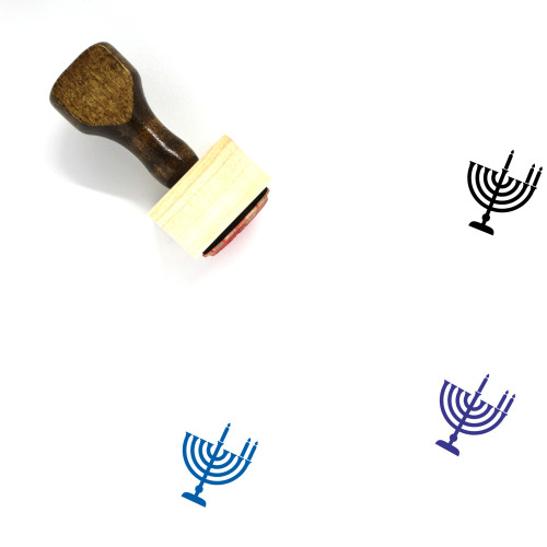 Menorah Wooden Rubber Stamp No. 31