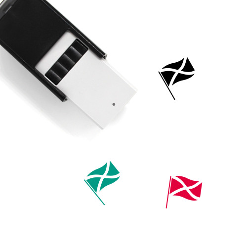 Flag Of Jamaica Self-Inking Rubber Stamp No. 1
