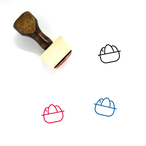 3 Easter Eggs Wooden Rubber Stamp No. 1